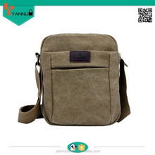 alibaba hot selling fashionable portable teenage boys pockets strong waxed canvas bags vintage for nice design