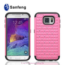 Hot Sell Manufacture Products Mobile Phone Covers Cases For Samsung Galaxy S6 Bling Diamond Protective Covers