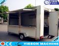 Caliente la venta de comida rápida de remolque de comida rápida caravana YS-FV400