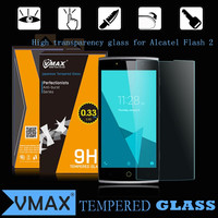 2015 products best selling high transparency tempered glass screen protector for alcatel Flash 2