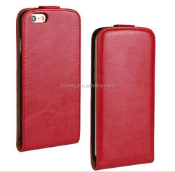 Red hot sell book style leather case for iphone6