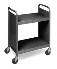 Metal Library Book Cart, steel book carrier ,Library Book Trolley