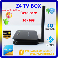 New Z4 RK3368 Octa Core 4K rk3368 google Android 5.1 TV Box with KODI 15.0 android media player smart live tv box