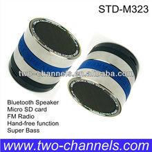 Super Bass Metal Hot Wireless Bluetooth Speaker with FM/Mic ro SD function(STD-M323J)