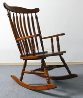 american style classic antique and classic design solid wood armrest rocking chair