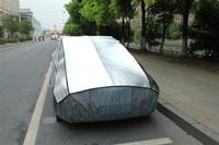 Aluminum film + EPE & non-woven waterproof hail protector car cover at factory price