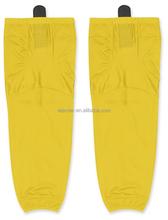 Yellow design blank custom sublimated hockey socks
