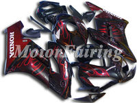 BodyFairing for Honda CBR1000 CBR 1000RR CBR1000RR 04 05 CBR 1000RR 2004 CBR1000RR 2005 04 05 CBR 1000 RR CBR black red flames