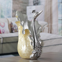 Lucky craft/indian home decor items/fantastic swan vase decoration