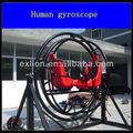 Louco girando adulto passeios de parque de diversões equipamento do exercício humano giroscópio