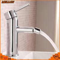 Single hole dual crystal handles brass Ti-PVD finish bidet faucet