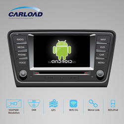 7in Touch screen android 2 din car dvd for skoda octavia 2014 with GPS, iPod, Wifi, 3G functions
