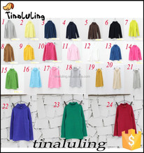 wholesale 2015 long sleeve plain t shirts high neck girls tops OEM and ODM