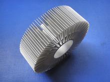 Round extruded aluminum radiator heatsink fins with final machining
