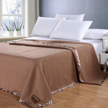 shenzhen high quality luxury hotel bed set single bed blanket