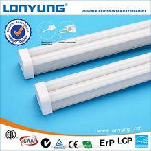 4ft t5 t8 30w 12v led fluorescent tube/light/ lamp Double led integrated tube light ETL TUV SAA CE ROHS LCP Energy star