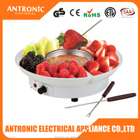 Antronic ATC-CF19B 25W mini chocolate fountain manufacture can display fruits
