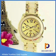 Top M Quality Fashion Design Quartz Cheap K stainless steel back watches from china