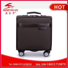 Hot selling leather airport hand luggage trolley with 4 wheel