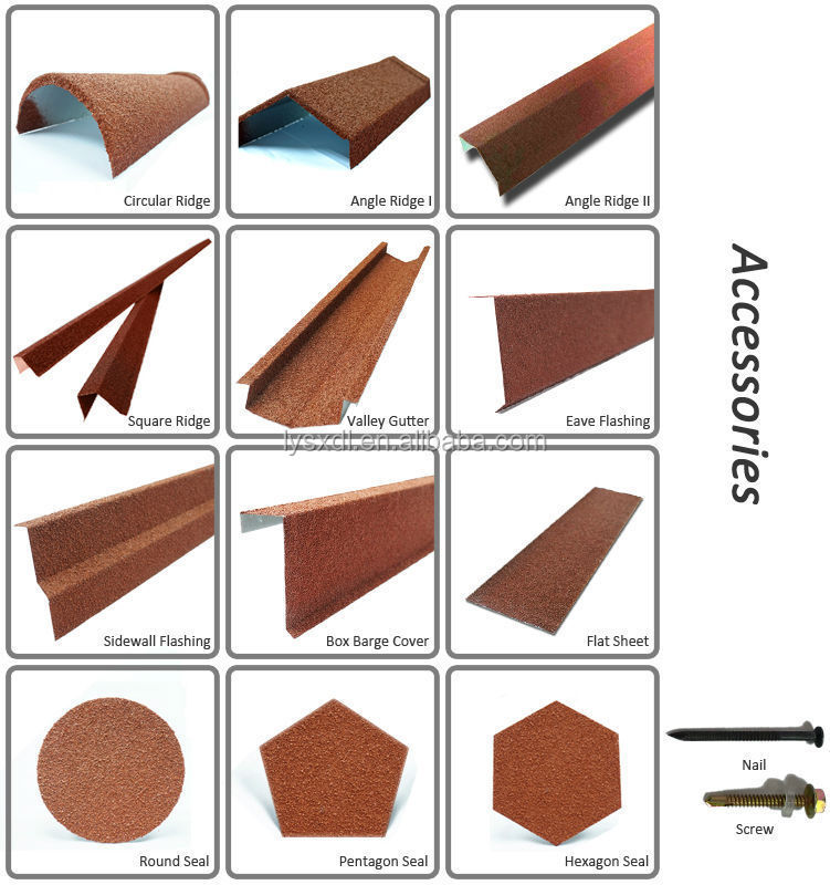 Color Sand Coated Metal Galvanized Butterfly Roof Tile