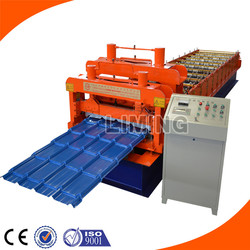 Steel Roof Tile Panel Cold Making Machine/Zinc Glazing Step Tile Manufacturing Machine