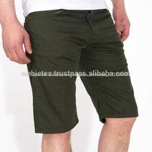 De las bermudas para hombre pantalones cortos de alta calidad de bolsillo pantalones cortos de chino