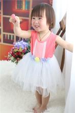 2015 good quality low price cotton white lace children boutique clothes breeze girl dresses