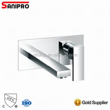 2 hole Brass Bathroom American standard Faucet wall mount Basin Mixer Tap,chrome Finished