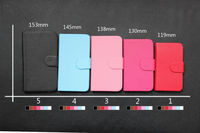 Various sizes and colors card slots universal mobile flip wallet leather cases