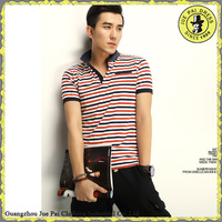 china factory custom men striped polo shirt