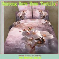 3d flower 100% cotton bedding sheet 3D duvet cover set and 3D bed linen