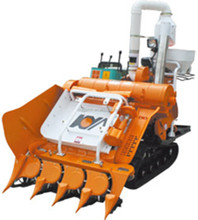 Tracked Walking Type For Hills Mini Grain Harvester Combine