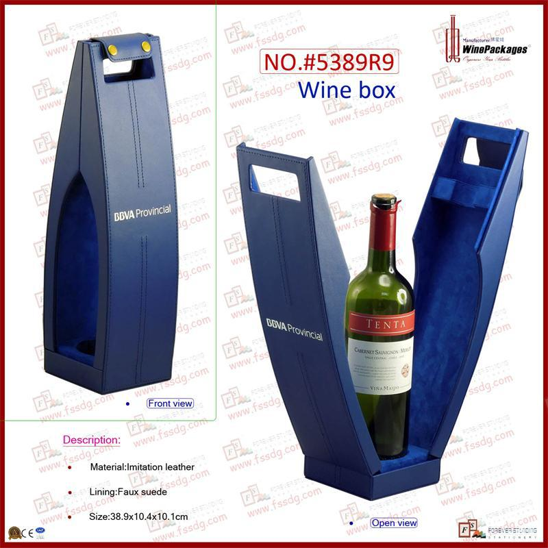 manufacturer supply one bottle leather wine carrier