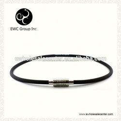 energy magnetic silicone necklace with charm