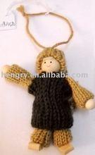 handmde wool felt Christmas Doll 119035A
