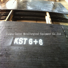 Direct factory produce best HRC58-62 8+6 hardfacing coated abrasion resistant steel plate
