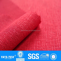 Red Cross Stripe Bronze Design Polyester Spandex Fabric For Summer Spring Sportswear Shirt