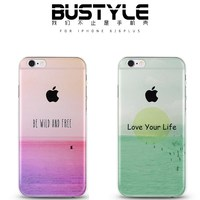 Simple style TPU soft mobile case for iPhone 5 6 plus by high quality silicone material