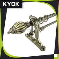 KYOK Iron simple decorative pole final , Cheap Curtain Track Accessories, single /double curtain rod holder