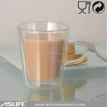 (ASD1144)LFGB FDA Food Quality High Borosilicate Glass Coffee Cups In 150cc With Ear!Food Quality With Ear 150CC Coffee Cup