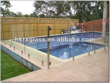 10mm/12mm clear frameless tempered glass fence panels / tempered fencing glass / AS/NZS 2208: 1996 Approved