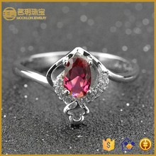 Diamond wedding rings fashion jewellery gold plated terling silver 925 cz ruby engagement ring fashionable jewelry wholesale
