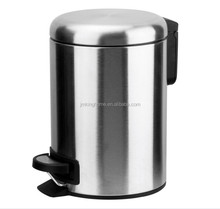stainless steel trash can strong metal pedal can