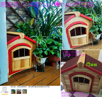 Home Garden Pet Products Cages Carriers > Wooden Outdoor Pine Fir Eco-Friendly pet dog cat houses home building room Crate#CH03
