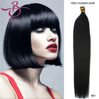 "Grade remy Keratin stick I tip hair human Natural hair extension 20"" 100s 50g/pk in Stock 6 Color optional"