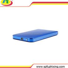 "2.5"" 12mm USB2.0 SATA Custom Aluminum External Hard Disk Drive (HDD) Enclosure (Blue) FZX2507SA2"