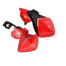 "BJ-HG-013 2014 New arrival red plastic 7/8"" universal ATV racing motocross handguard"