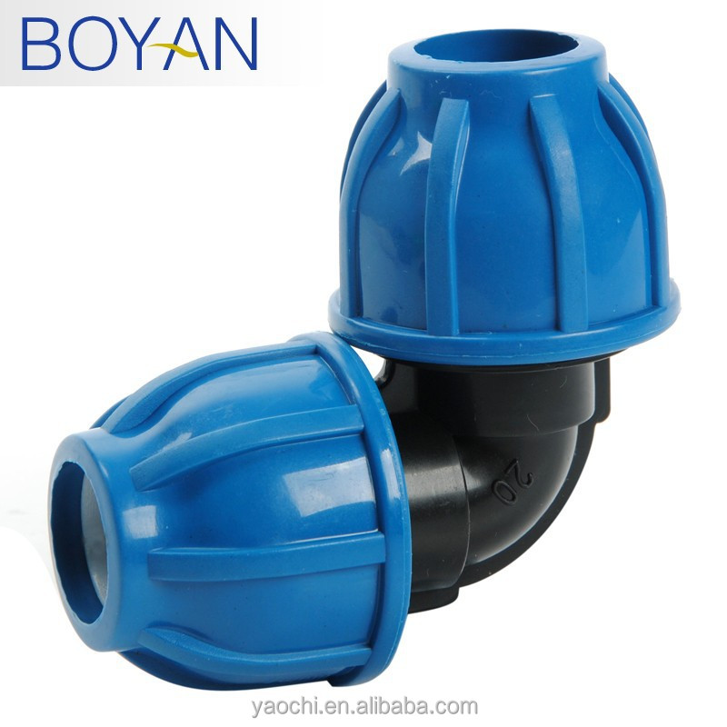 Pp plastic compression quick pipe fitting degree equal
