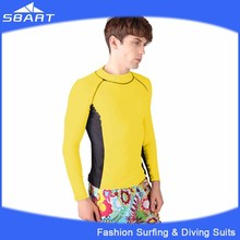 SBART 2015 Men's Wholesale Sportswear, Surfing Shirt, Sun Protection Clothing And Split Diving Wetsuits In Lycra For Sports