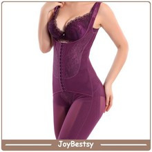 Wholesale stock colors open bust thigh slimming body shaper for women